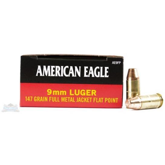 American Eagle 9mm 147gr FMJ FP Ammunition 50rds ($0.60/PPR)