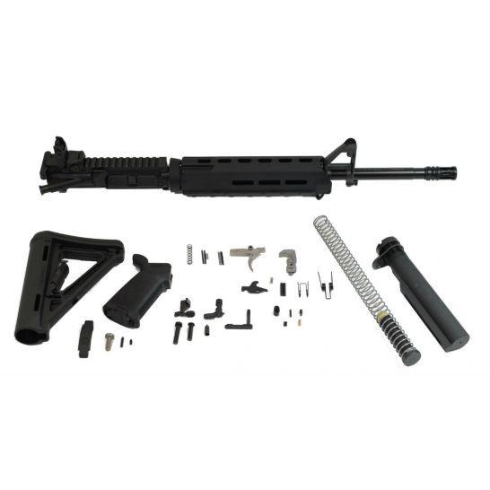 """PSA 16"""" Midlength 5.56 NATO 1/7 Phosphate MOE EPT Rifle Kit & Rear MBUS"""