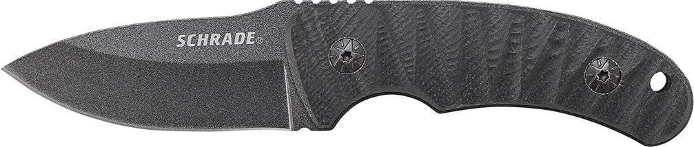 Schrade SCHF57 6.3in Steel Full Tang Fixed Blade Knife with 2.6in Drop Point Blade