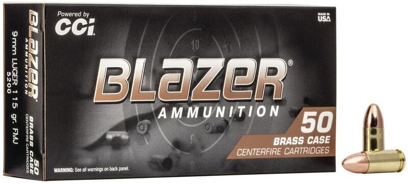 BLAZER 9mm Brass 115Gr FMJ RN 1000rd Case