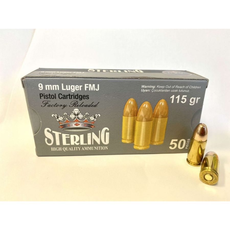 Sterling - 9mm - 115 Grain - FMJ - Reman - 50 Rounds