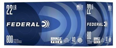 FEDERAL - 22 LR RANGE 40GR LRN 800RD ($0.16/PPR)