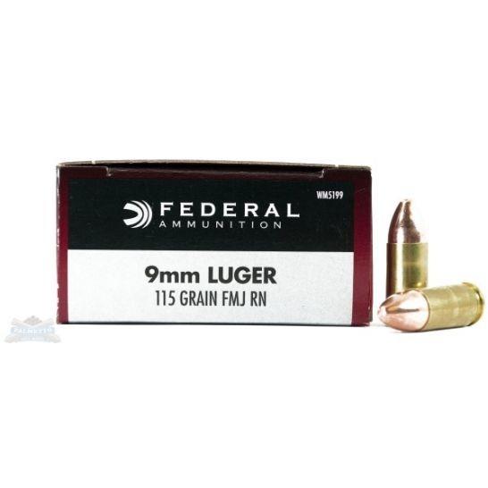 Federal 9mm 115gr FMJ Champion Ammunition 50rds ($0.72/PPR)