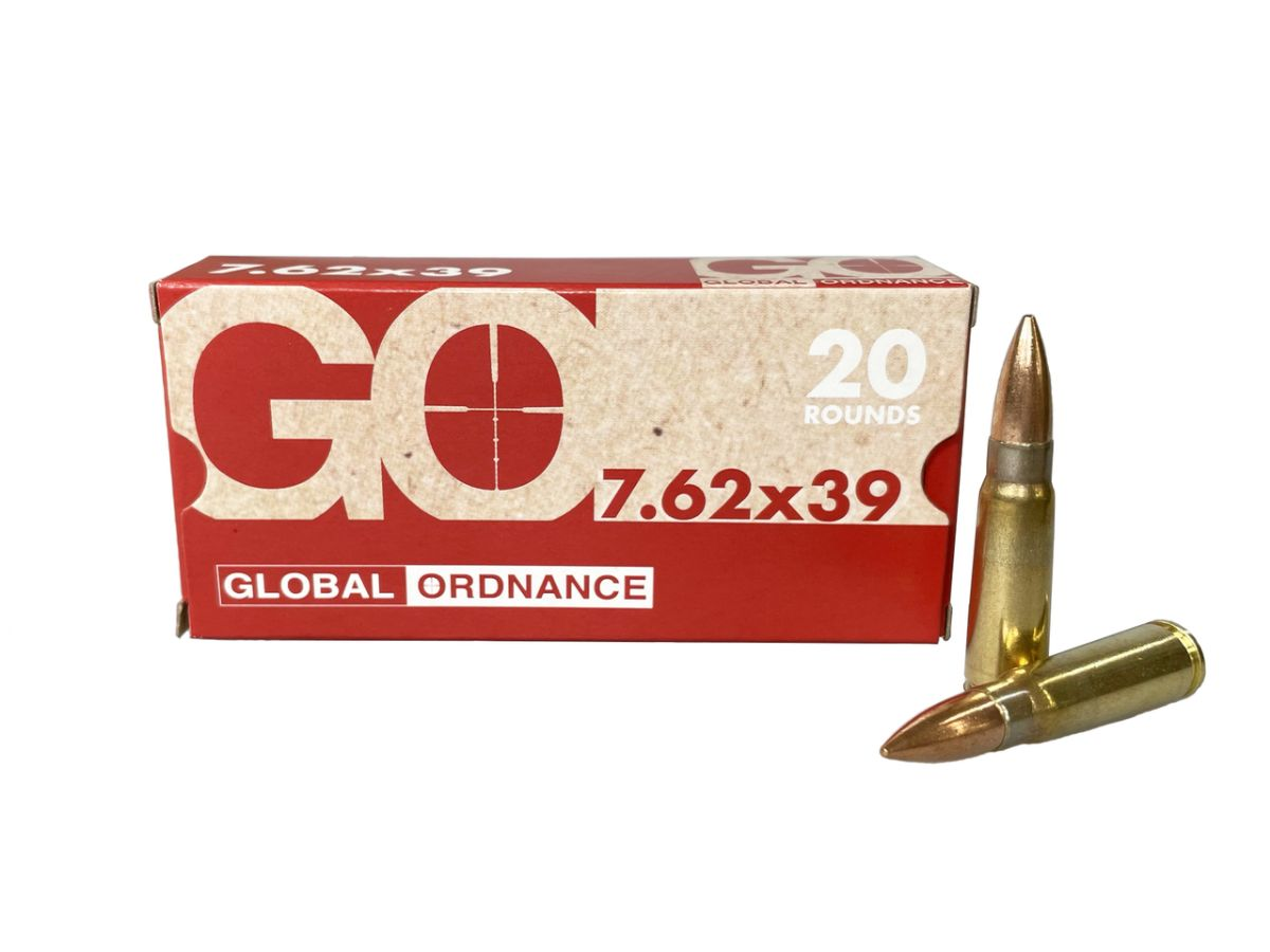 First Time Ever Offered - Global Ordnance 7.62x39 Brass Cased 123 Grain FMJ