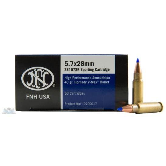 FNH 5.7X28 MM 40GR V-MAX 50 ROUNDS AMMUNITION - SS197SR