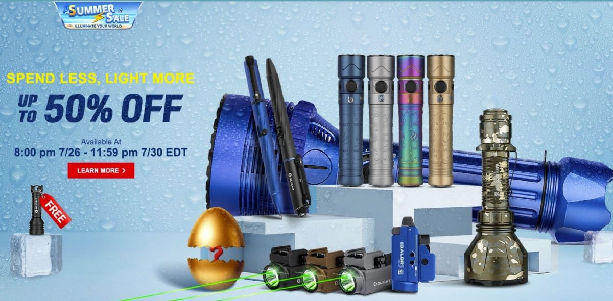 Olight Summer Sale, Up To 50% OFF and at least 20% OFF side-wide