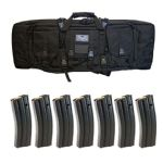 "PSA 36"" SINGLE RIFLE BAG & SEVEN D&H 30RD 5.56 MAGAZINES"